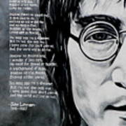 John Lennon - Imagine Print by Eddie Lim