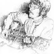 John Lennon Print by David Lloyd Glover