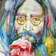 John Lennon - Watercolor Portrait.9 Art Print