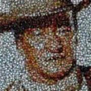 John Wayne Bottle Cap Mosaic Art Print