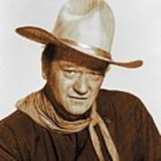 John Wayne, Hollywood Legend Art Print