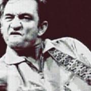 Johnny Cash Beer Cap Mosiac Art Print