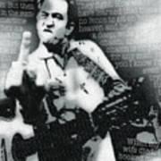 Johnny Cash Rebel Vertical Art Print