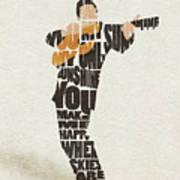 Johnny Cash Typography Art Art Print
