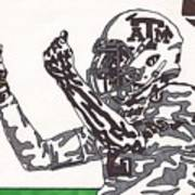Johnny Manziel 10 Change The Play Art Print by Jeremiah Colley