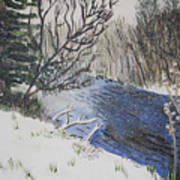 Johnson Vermont In Spring Snow Storm Art Print
