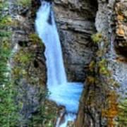 Johnston Canyon Falls Hike Upper Falls Art Print