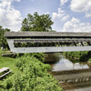 Johnston Covered Bridge Art Print