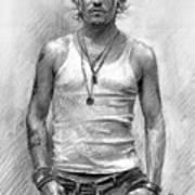 Johny Depp Art Print by Ylli Haruni
