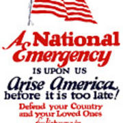 Arise America Before It Is Too Late - Join The Navy Art Print