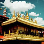Jokhang Temple Fragment  Lhasa Tibet Artmif.lv Art Print