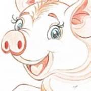 Jolly Miss Piggy Art Print