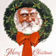 Jolly Old Saint Nick Art Print