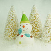 Jolly The Snowman I Art Print