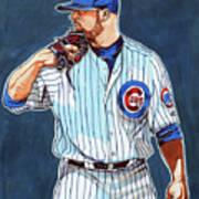 Jon Lester Chicago Cubs Art Print