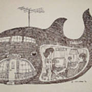 Jonah In His Whale Home. Art Print