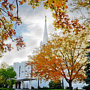 Jordan River Temple Art Print by La Rae  Roberts