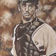 Jorge Posada New York Yankees Art Print