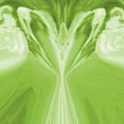 Josea - Green Art Print
