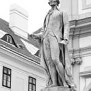 Josef Haydn In Black And White Art Print