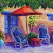 Josefina's Courtyard Print by Candy Mayer