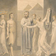 Joseph And Potiphar's Wife Art Print