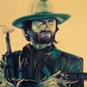 Josey Wales Outlaw. Smokin Gun Art Print
