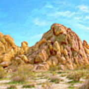Joshua Tree Rocks Art Print