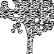 Joshua Tree Zebra Stripes Art Print