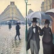 Jour De Pluie A Paris Art Print