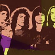Journey Rock Band Pop Art Art Print