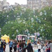 Joy Of Bubbles Art Print