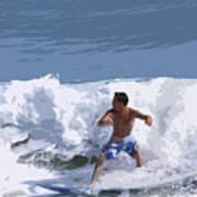 Joy Of Surfing - Two Art Print
