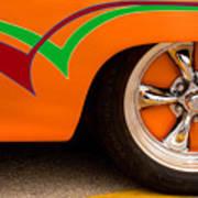 Joy Ride - Street Rod In Orange, Red, And Green Art Print