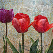 Joy Withtulips Art Print