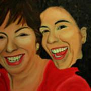 Joyce And Gina Art Print