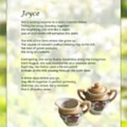 Joyce Poem Art Print