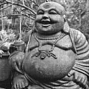 Joyful Lord Buddha Art Print