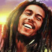 Joyful Marley  Bob Marley Portrait Art Print