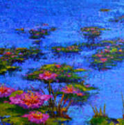 Joyful State - Modern Impressionistic Art - Palette Knife Landscape Painting Art Print