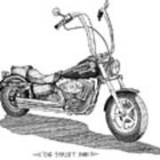 Juan's Harley Art Print