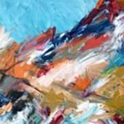 Judean Hill Abstract Art Print