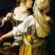 Judith And Her Maidservant 1613 Art Print