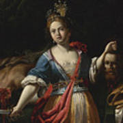 Judith With The Head Of Holofernes 2 Art Print