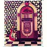 Juke Box Polaroid Transfer Art Print