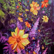 Julia's Dahlias Art Print