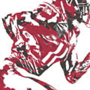 Julio Jones Atlanta Falcons Pixel Art 11 Art Print