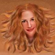 Julorobani - Julia Roberts Portrait Art Print