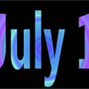 July 1 Art Print
