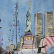July 4th Art Print by Judy Riggenbach
